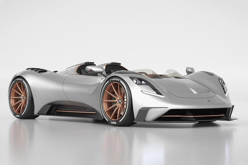 Ares Design Roofless S1 Project Spyder supercar vehicle racing driver passenger v8 horsepower 8800 rpm v8 vc8 dual clutch transmission chssis 715 0 to 72 miles per hour