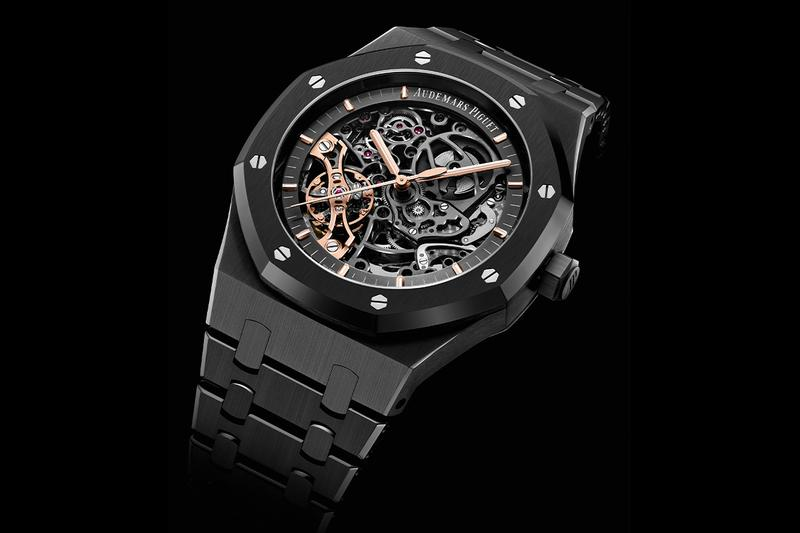 audemars piguet royal oak openworked double balance wheel black ceramic case bracelet