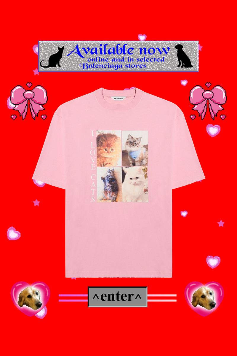 "Balenciaga ""I LOVE PETS"" Capsule Collection La SPA France Animal Rescue Adoption Service Charity Charitable Cause Four Legged Friends Meow Woof Cats Dogs Demna Gvasalia"