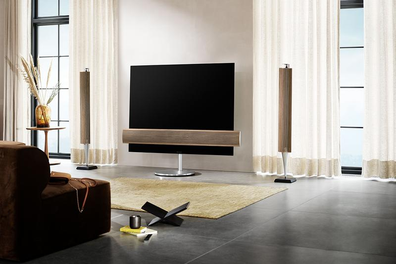 Bang & Olufsen TVs Beovision Contour Beovision Eclipse-55 2nd Generation Beovision Harmony Motorized Floor Stand Luxury Interior Design Danish Hygge Homeware