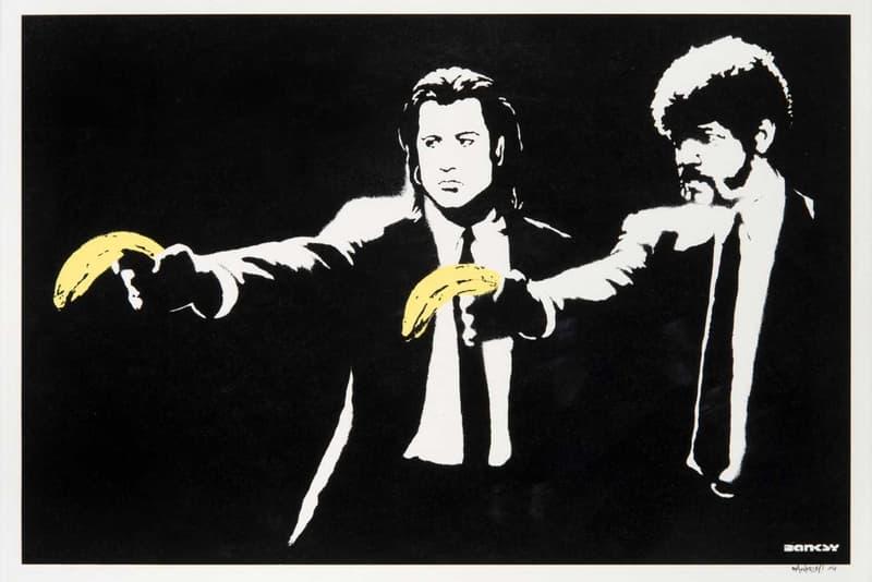 banky pulp fiction print tate ward auction artworks street art graffiti