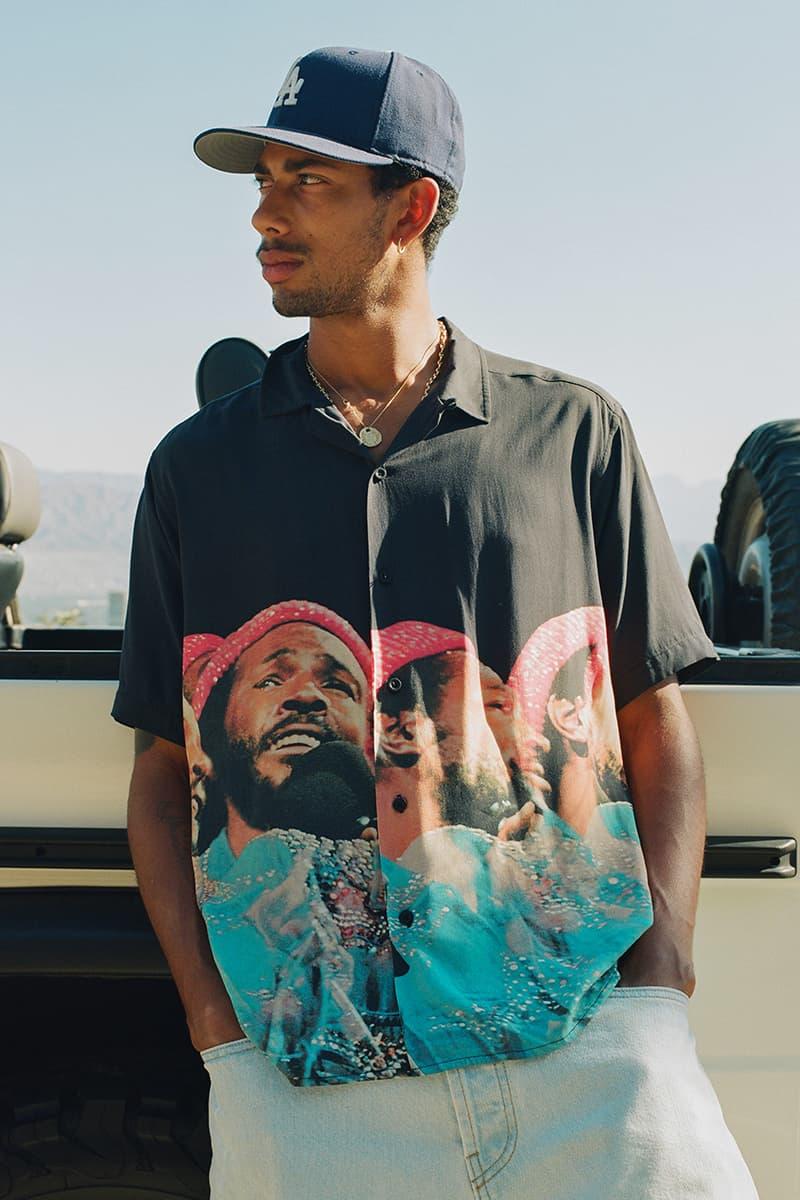 Better™️ Gift Shop Pays Homage to Motown® Legend In Marvin Gaye Poplin Camp Shirt soul Detroit Singer RnB Legend Artist Toronto Avi Gold