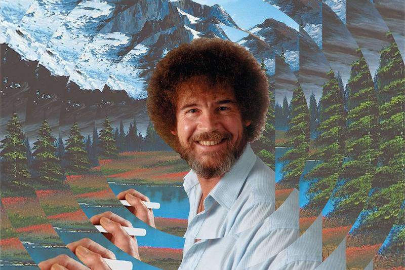 bob ross experience exhibition indiana painting artworks