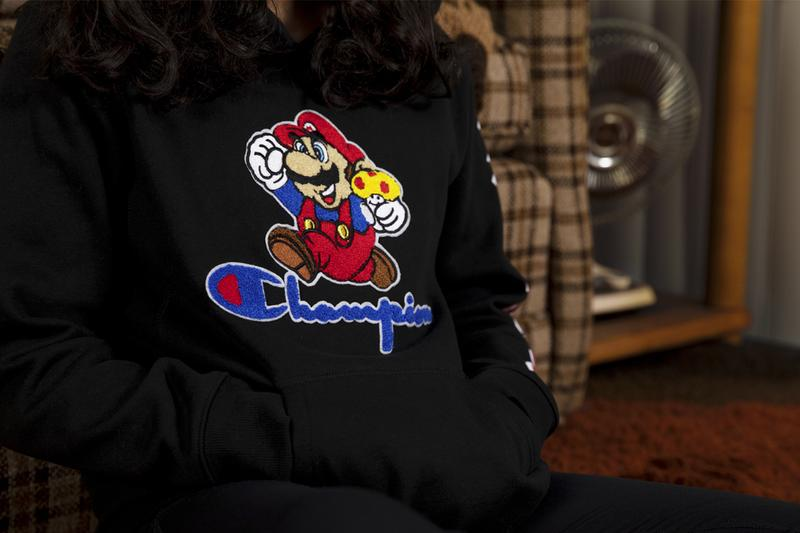 nintendo champion super mario bros 35th anniversary celebration limited edition collection hoodies t shirts pants bowser princess peach luigi reverse weave