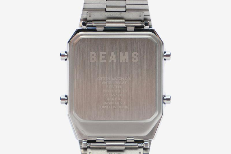 BEAMS Gives Citizen Ana-Digi Temp Watch Artistic Update With Handwritten Dial digital dial japan Watches accessories
