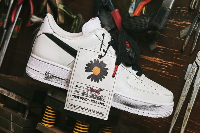 G-Dragon PEACEMINUSONE Nike Air Force 1 '07 Para-Noise 2.0 Release Date DD3223-100 White Buy Price Big Bang Album YOUTOPIA Closer Look