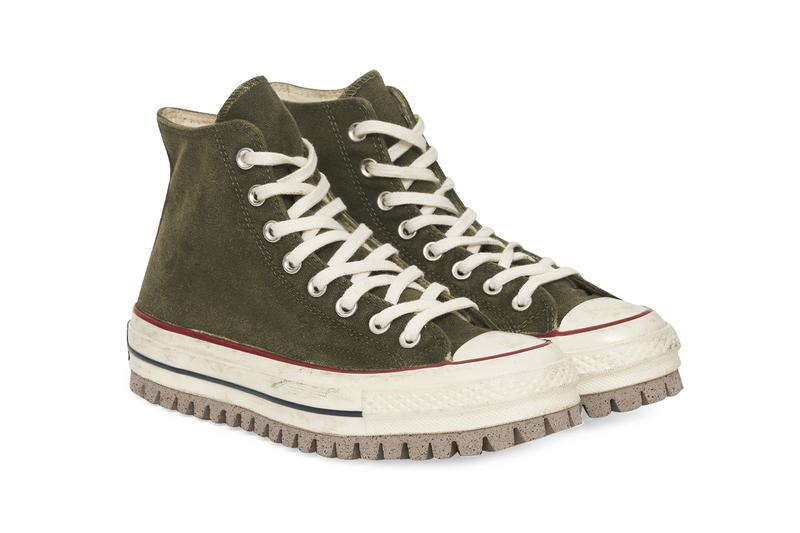 "Converse Chuck 70 Canvas LTD Hi Sneakers ""Forest Green"" Trek Trail 169932C 906 Hiking Chunky Shoe Footwear Drop Date Release Information Slam Jam Milano OrthoLite Khaki FW20 Fall Winter 2020"