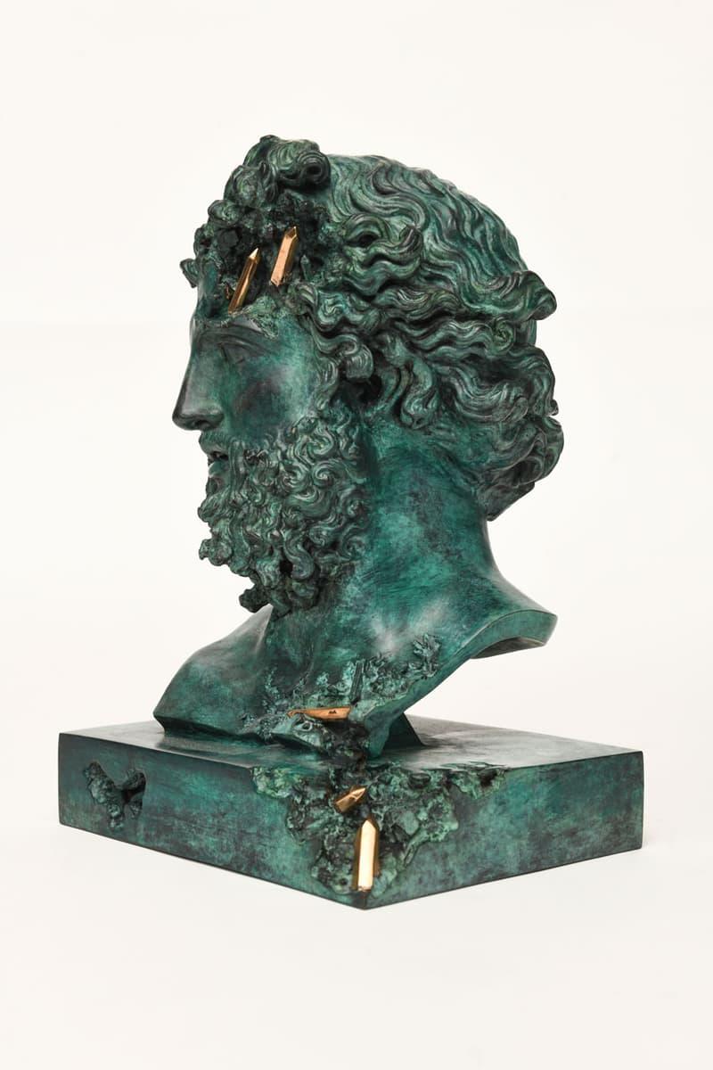 daniel arsham bronze eroded jupiter sculpture edition artwork