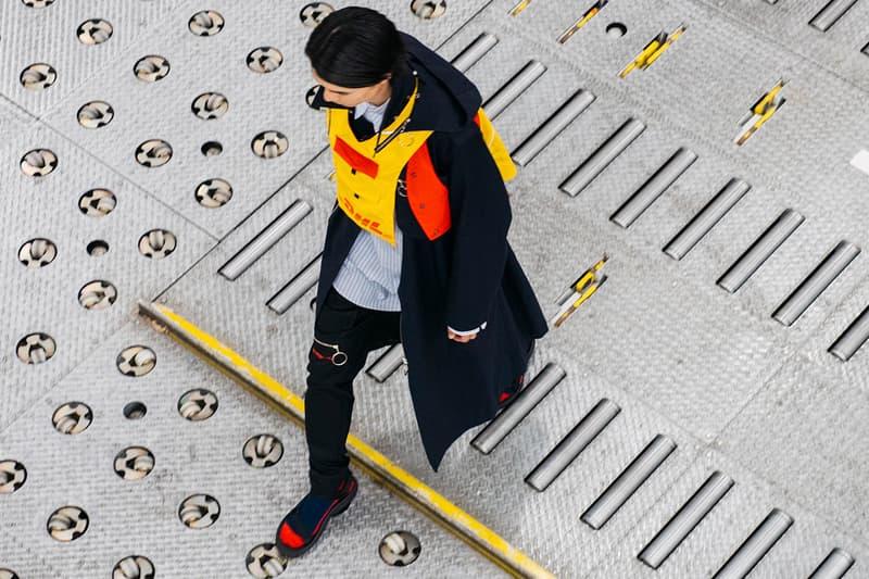 DHL Collaborates with Japanese Brand YUKI HASHIMOTO at Rakuten Tokyo Fashion Week Recycling Japan Streetwear HYPEBEAST