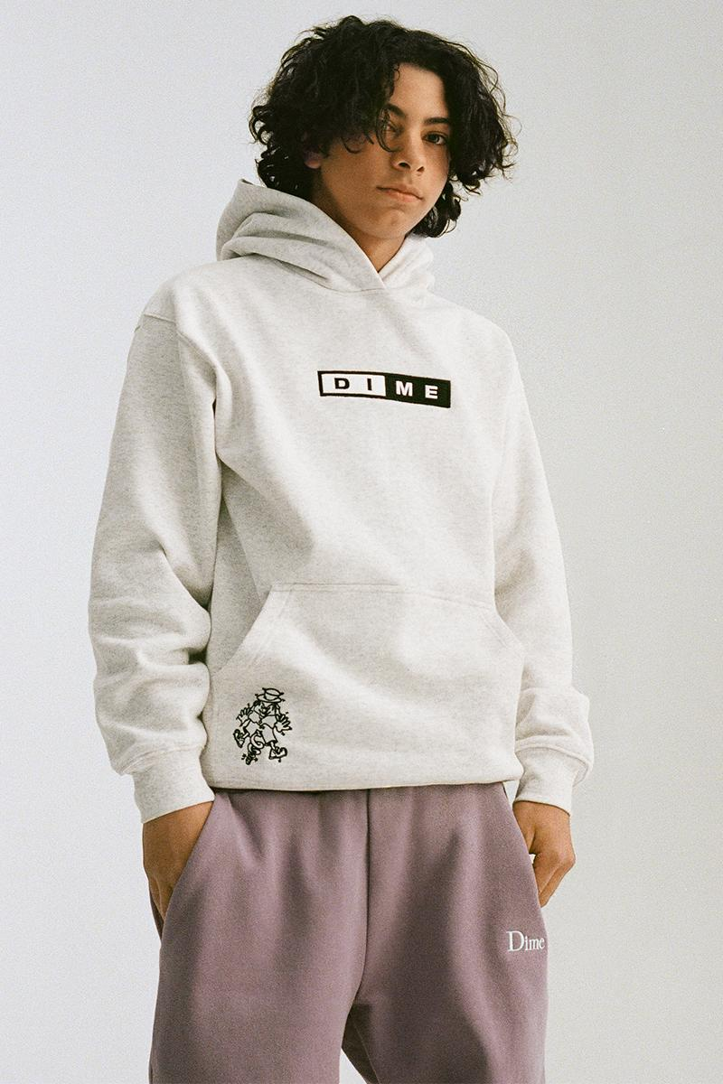 Dime Holiday 2020 Collection Lookbook Release Info girl who fleece Puffer Sweater Crewneck hoodie beanie sweatpants t shirt hoodie