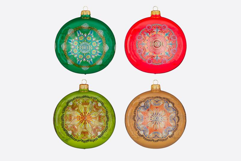 Dior Luminarie Set of 4 Christmas Ornaments Release Maria Grazia Chiuri  Cruise Collection Xmas Luxury Premium Glass Ornaments bulbs