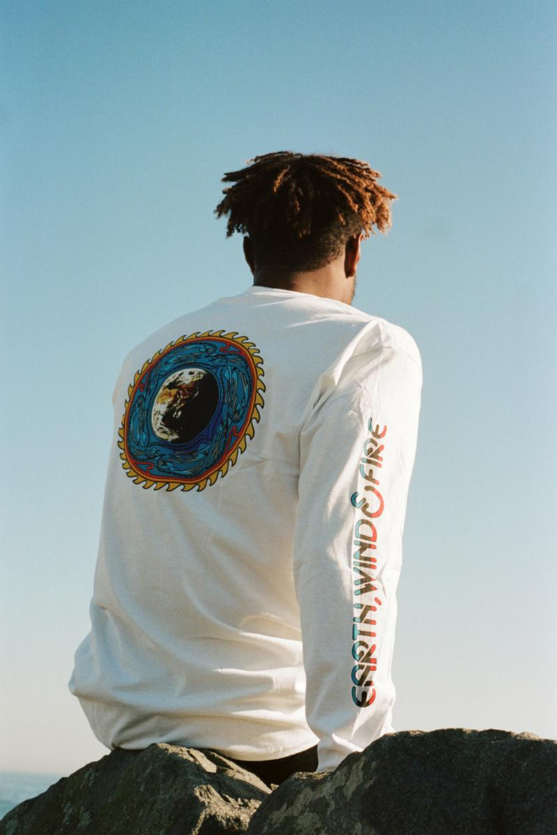 Earth, Wind & Fire x NOAH Apparel Collaboration collection ny new york release date info buy jacket hat shirt hoodie dover street market site store