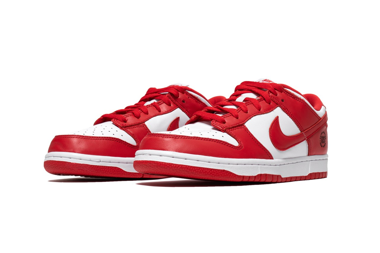 extra butter nike dunk low university red saint johns lasered graphic charity raffle hour children official release date entry info photos price store list buying guide