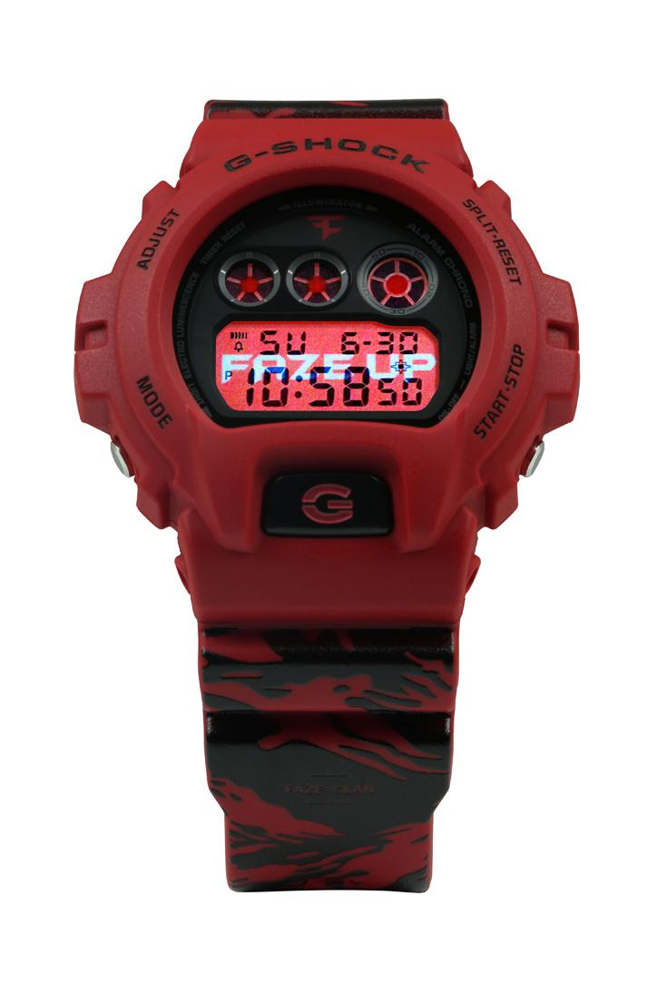FaZe Clan x G-SHOCK DW-6900 10th Anniversary Watch collaboration timepiece up logo color price release date info buy store website