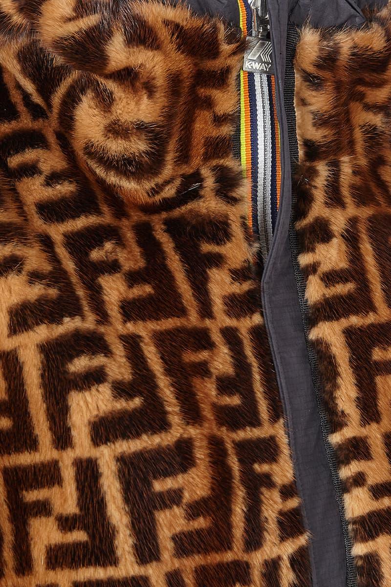 fendi luxury windbreaker k-way release information gold black FF logo