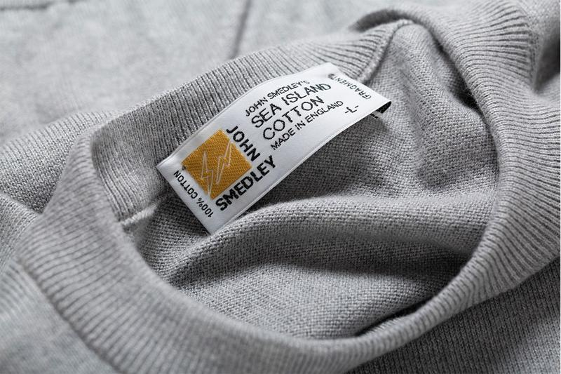 fragment design x John Smedley Sea Island Cotton Sweatshirt fall winter 2020 fw20 hiroshi fujiwara collaboration collection tee shirt
