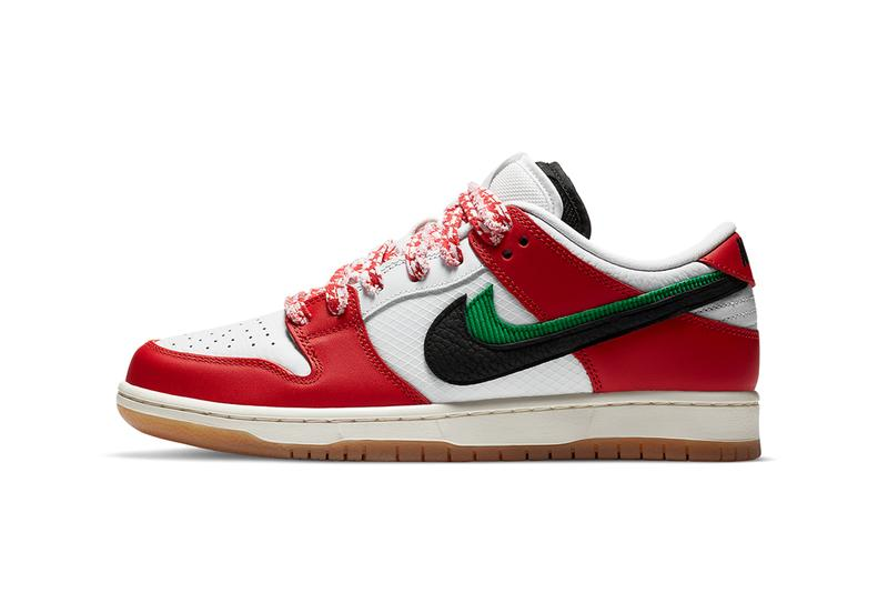 frame skate nike sb dunk low habibi CT2550 600 red white green black gum release date info photos price store list buying guide