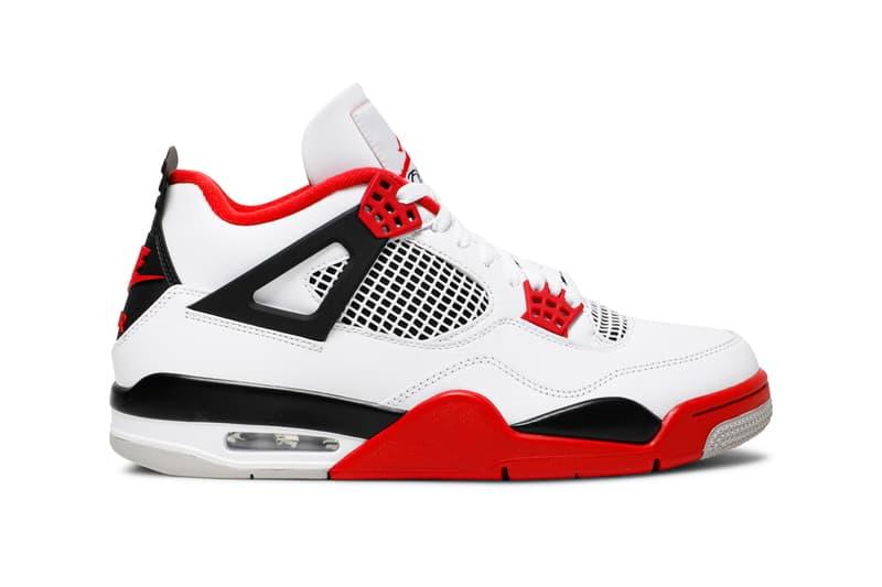 "Air Jordan 4 ""Fire Red"", Air Jordan 1 Retro High OG ""Chicago"" 2015, Air Jordan 4 Retro OG ""Bred"" 2019, Air Jordan 6 Retro ""Infrared"" 2019, Air Jordan 5 Retro ""Fire Red"" 2020, Air Jordan 11 Retro ""Bred"" 2019, Air Jordan 12 Retro ""Flu Game"" 2016, Air Jordan 14 Retro ""Last Shot"" 2018"