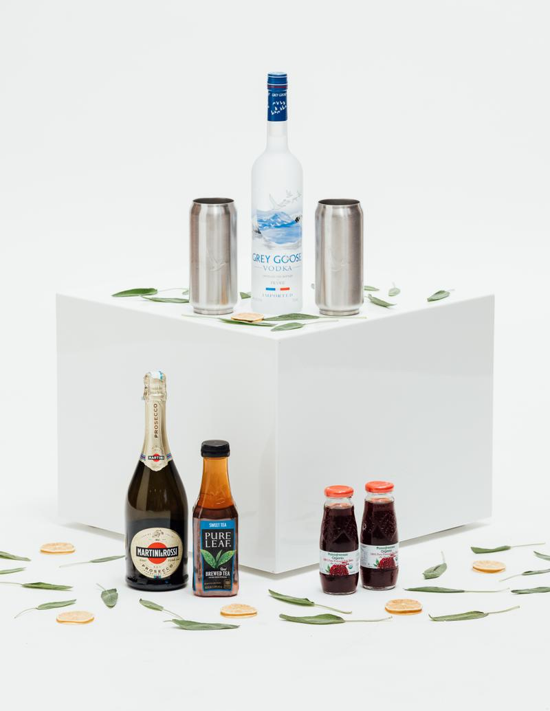 Anwar Carrots x Grey Goose Limited Edition Holiday Sweater Celebrate cocktail kits vodka