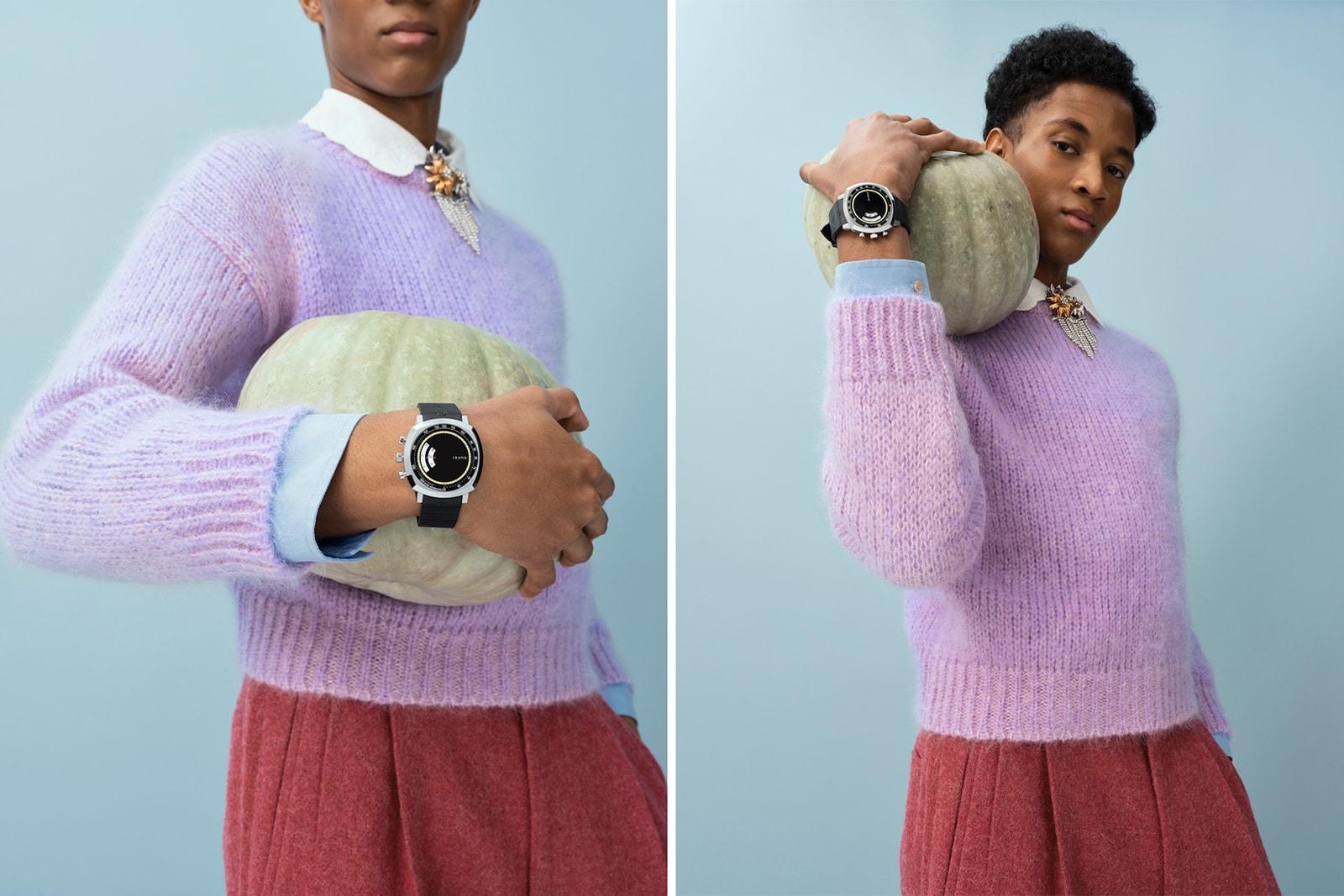 gucci grip watch chronograph function steel case accessories lookbook shoot skateboard