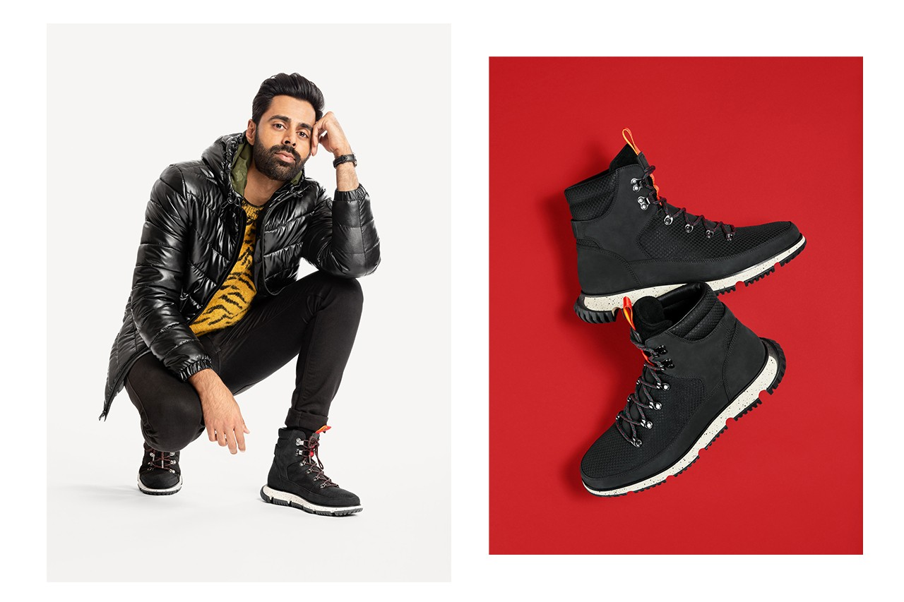 footwear collaboration zero grand boot 4.zerogrand grandpro rally court sneaker hiker boot red bollywood black mesh leather