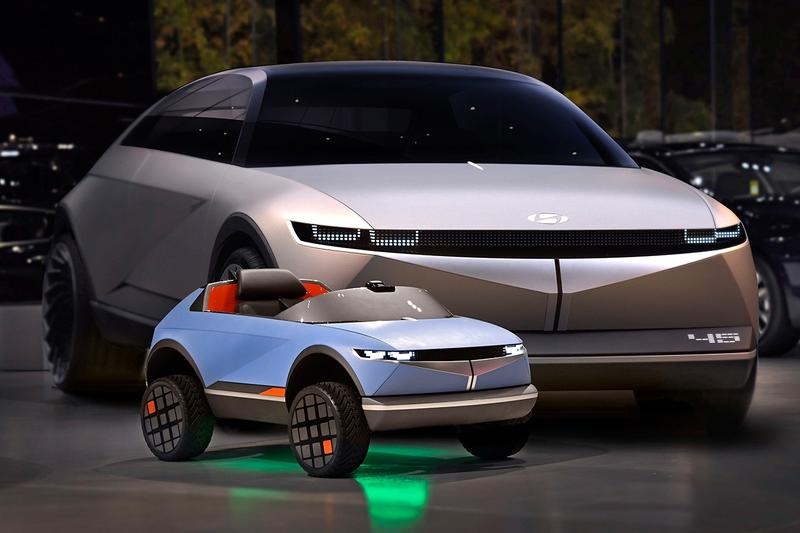 "Hyundai ""45"" EV Electric Vehicle Kids Children's Ride On Motors Cars Concept Revealed Closer First Look Sit Wheels Design Emotion Recognition Vehicle Control"