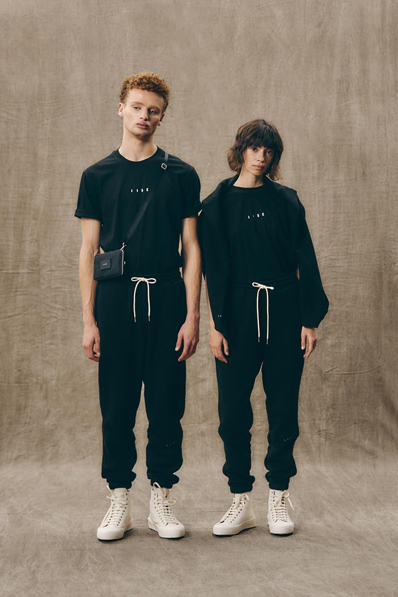 IISE's Ethical Essential Collection Lookbook fall winter 2020 fw20 mens womens sweater sweatsuit pants tee shirt