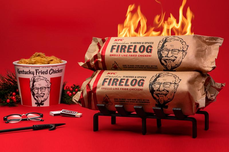 KFC Canada Limited-Edition 11 Herbs & Spices Enviro-Log Firelog Release Chicken Fried Chicken Winter Holidays Gifts Marketing Food Home