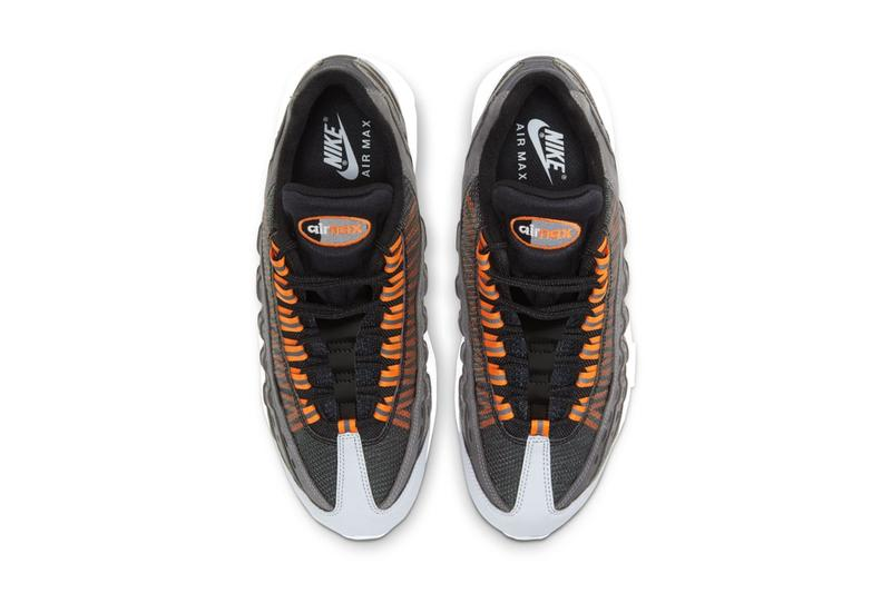 kim jones dior nike sportswear air max 95 black total orange gray white dd1871 001 official release date info photos price store list buying guide