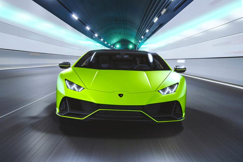 Lamborghini Huracán EVO fluo capsule neon fluorescent colors exterior paint job trim