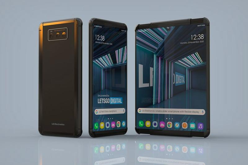 LG Smartphone expand screen phones technology tech display touch roll patent design us office south korean