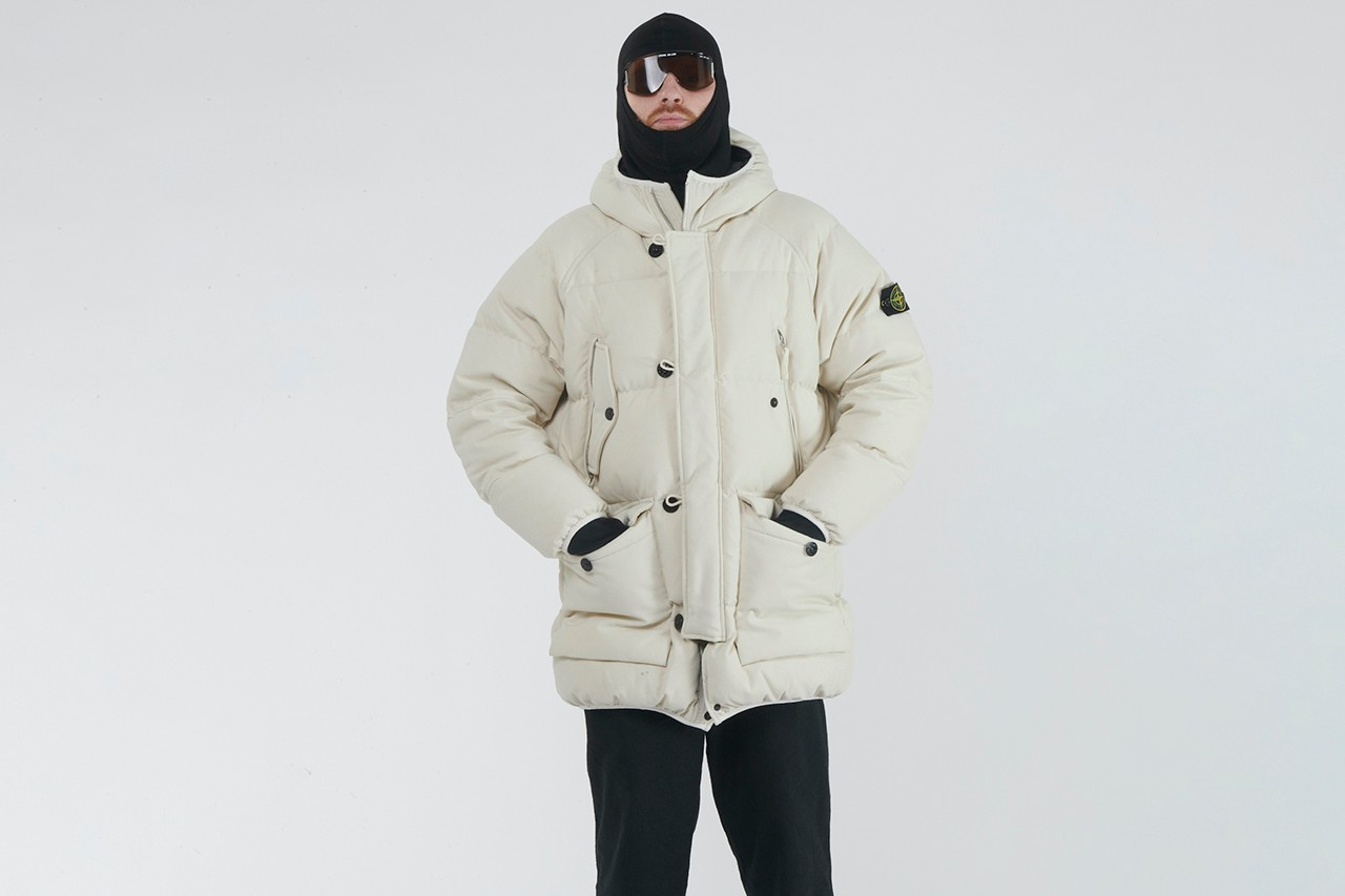 LN-CC ARCHIVE 03: STONE ISLAND 40534 Polypropylene Tela Down Parka Jacket White SI Massimo Osti Archie Maher Raphael Bliss Photography Lookbook Release Information Archival Fashion Menswear Outerwear Limited Edition Rare Garments OG