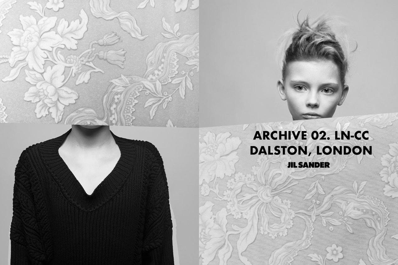 ln-cc Jil Sander archive collection release information Luke Meier Lucie Meier where to buy how long for