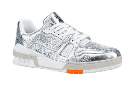 "Louis Vuitton Teases Bright ""Metallic Silver"" Colorway of LV Trainer"