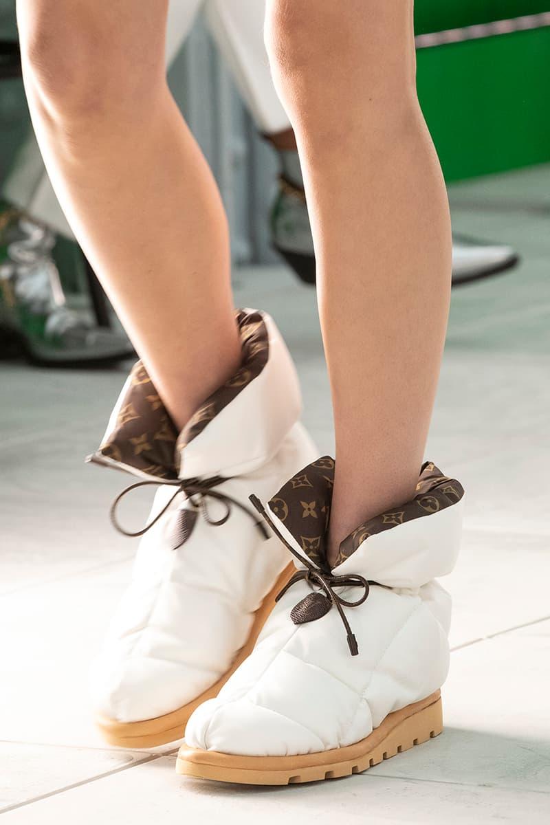 Louis Vuitton Pillow Boot Spring Summer 2021 Boots Rugged Footwear Winter Shoes Waterproof Nylon Lining LV Monogram Runway Show Piece Virgil Abloh Ankle White Black Khaki