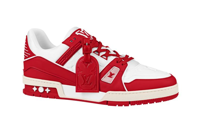 Louis Vuitton RED world aids day release information sneaker release red white