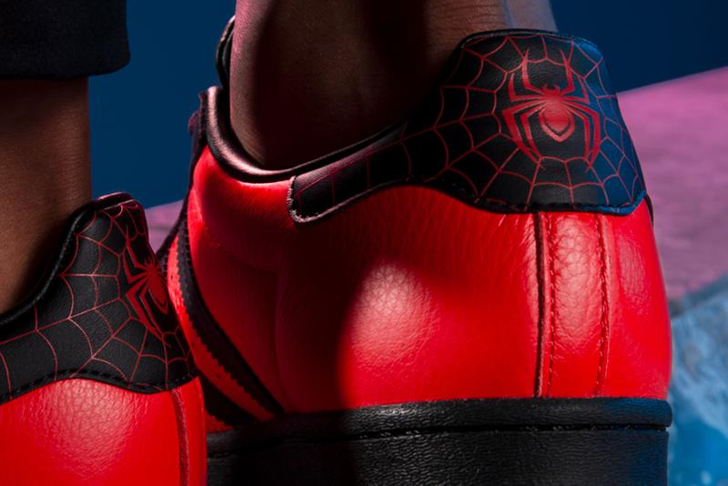 Marvels Spider-Man Miles Morales adidas Originals Superstar Release Info red black Insomniac Games Sony Playstation 5