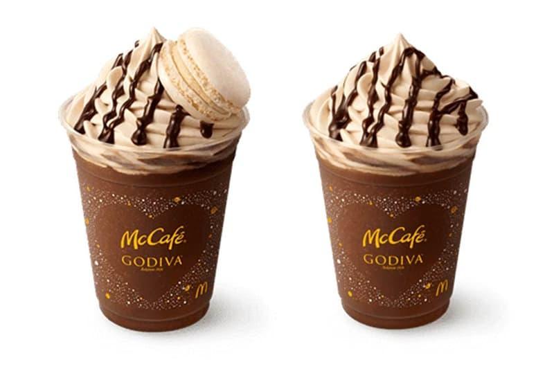 Godiva Chocolate Espresso Frappe and Macaron McDonald's Japan McCafe Godiva sweets cocoa drinks chocolate desserts