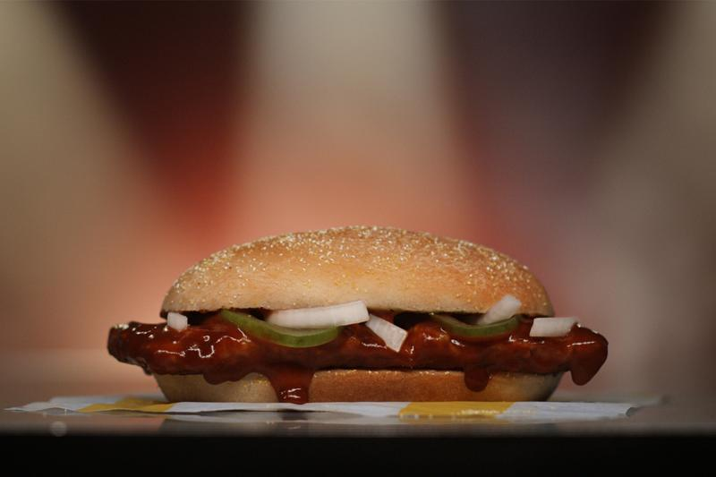 mcdonalds mcrib sandwich no shave november movember charity cancer research awareness