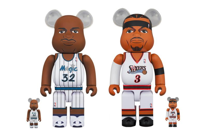 Medicom Toy Shaquille O Neal Allen Iverson BEARBRICK toys figures collectibles fall winter 2020 collection fw20 japanese toymaker basketball nba 76ers magic