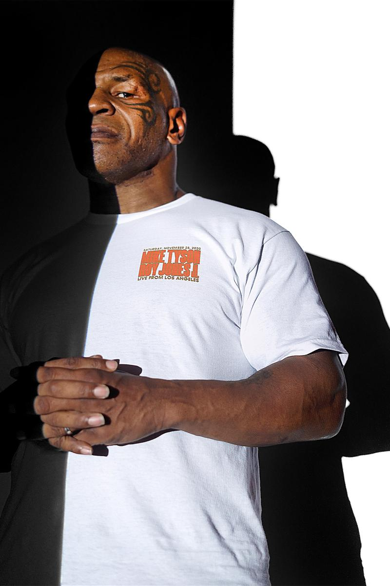 Mike Tyson Drops Legends Only League Merch Ahead of Roy Jones Jr. Exhibition Fight kid dynamite boxing Mike Tyson baddest man on the planet Iron Mike Triller Jake Paul vs. Nate Robinson Ranch Akomplice Clothing Michael DiFranco McCarney Ariana Katechis