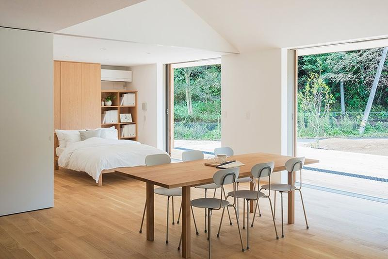 MUJI Opens Its Minimal Prefab Home in Yamaguchi Yō no Ie plain house architecture house wood nature Japan minimalism Prefabrication
