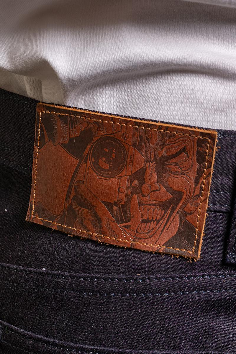 naked famous batman joker bane robin harley quinn raw selvedge denim jeans jacket collection limited edition dc comics