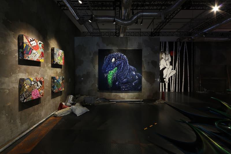 nanzuka jp pop underground exhibition haroshi hajime sorayama toshio saeki artworks paintings sculptures sexy robots