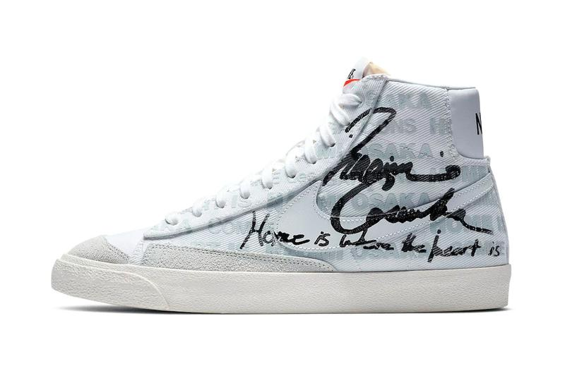 Naomi Osaka COMME des GARÇONS Nike Blazer Mid Official Look Release Info DA5383-100 White Pure Platinum Sail Black