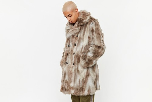 NEEDLES' Faux Fur Pea Coat Is Here To Save Your FW20 Wardrobe