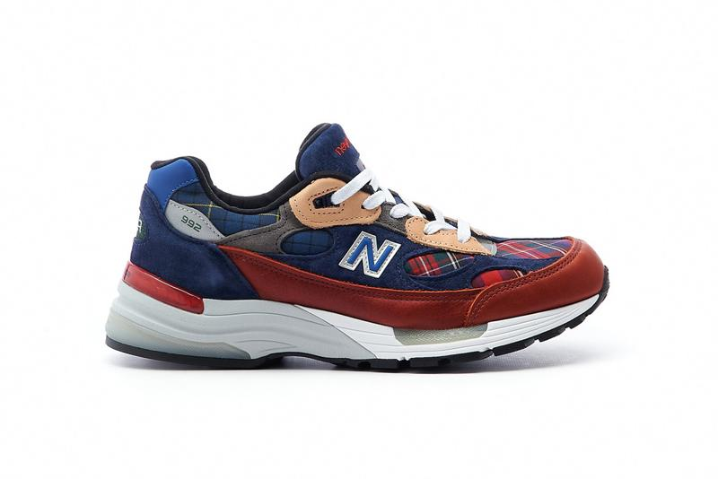 new balance 992 plaid navy red beige made in usa release info photos