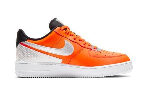 "Nike Delivers Air Force 1 '07 LV8 ""Total Orange"" With Bright 3M Highlights"