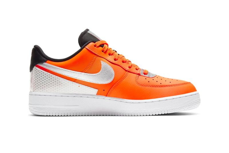 3M Nike Air Force 1 07 LV8 Total Orange metallic silver scotchlite black CT2299 800 footwear shoes sneakers trainers runners kicks fall winter 2020 collection fw20