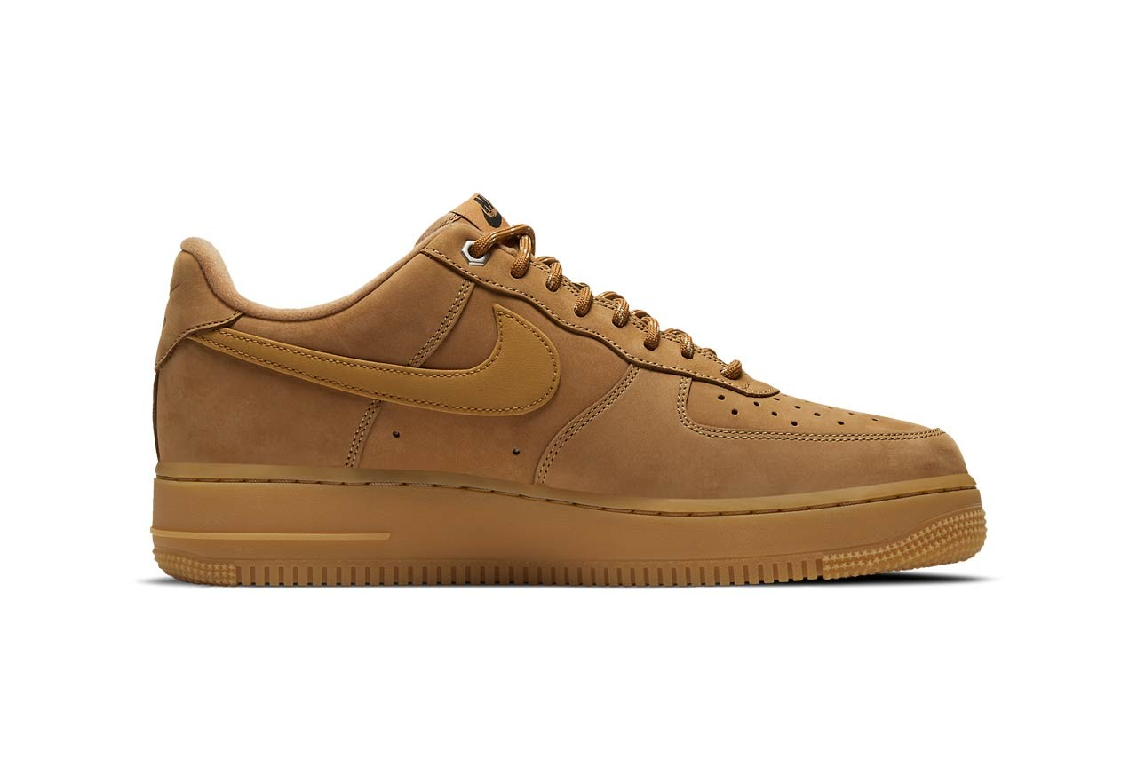 nike sportswear air force 1 low flax gum light brown black wheat CJ9179 200 official release date info photos price store list buying guide